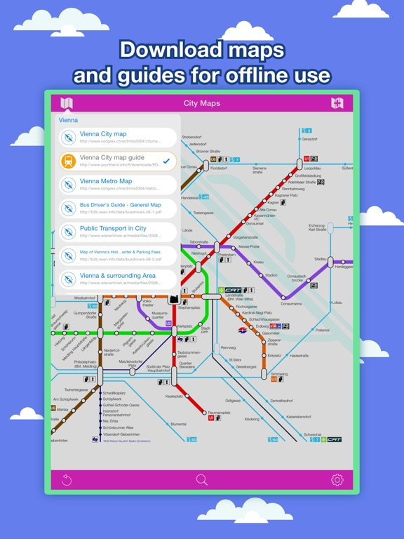 Vienna City Maps Discover VIE with MRT Bus Guide iOS Application