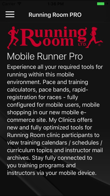 Running Room Mobile Runner PRO Edition