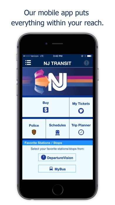 NJ TRANSIT Mobile App for Windows