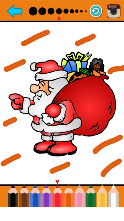 Santa Claus Coloring Page Christmas Book for Kids screenshot-3