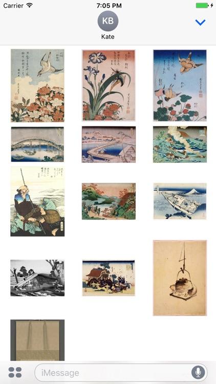Hokusai Artworks Stickers screenshot-3