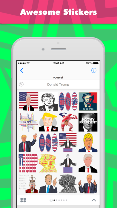 Donald Trump stickers by youssefyou