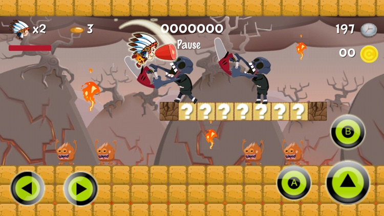 Super Neanderthal : The Heroes Of Run World Game screenshot-0