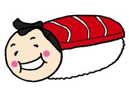 寿司と相撲のステッカー