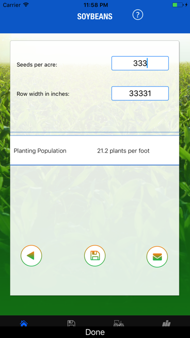 Planting Population Calculator screenshot three