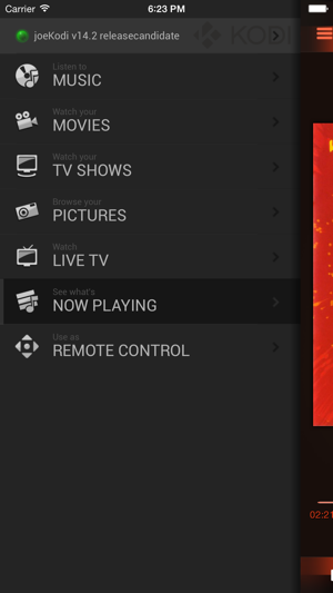 ‎Official Kodi Remote Screenshot