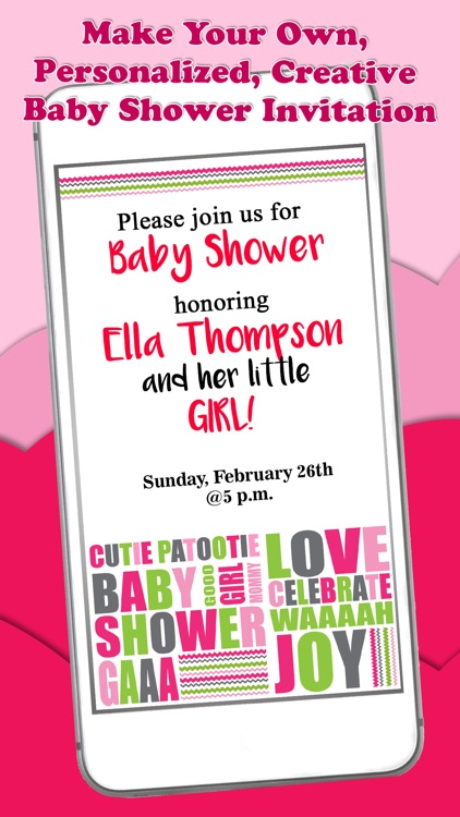 Baby Shower Invitations – Personalized Card Maker