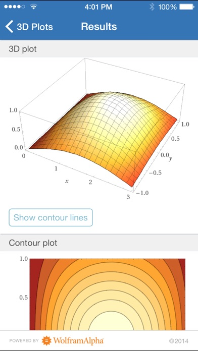 Wolfram Multivariable Calculus Course Assistant iPhone