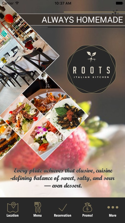 Roots Italian Kitchen By Peek In