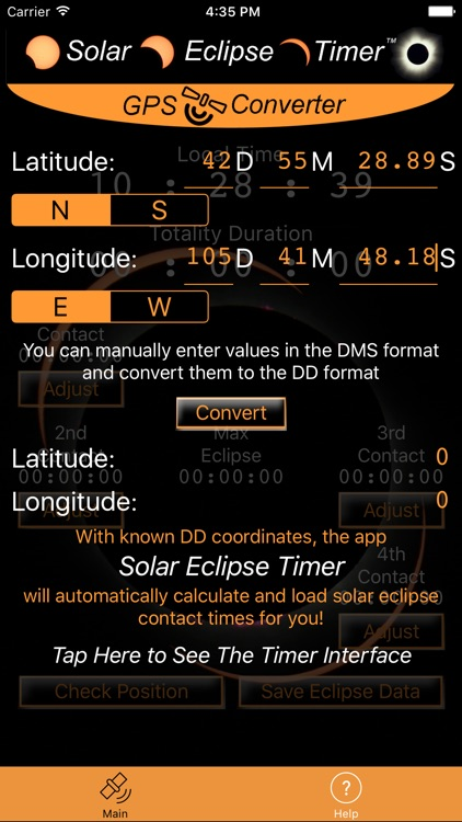 Solar Eclipse Timer GPS Converter screenshot-1