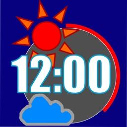 SunnyClock/見やすい時計&天気予報(広告なし)