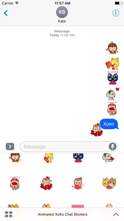 Animated XoXo Chat Stickers For iMessage screenshot-4