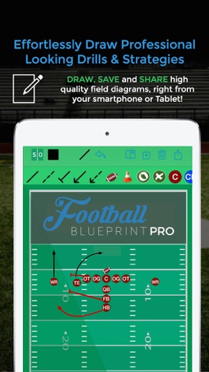 Football blueprint on the app store malvernweather Choice Image