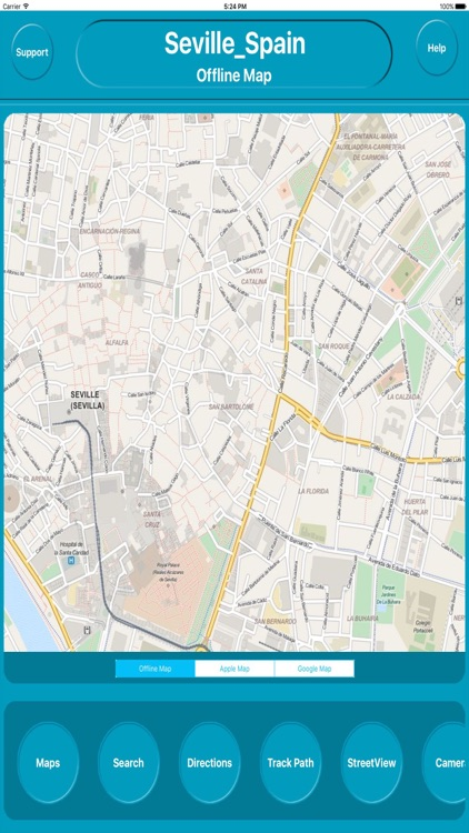 Seville Spain Offline City Maps Navigation