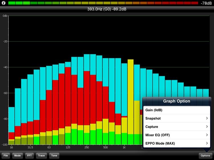 PocketRTA HD - Spectrum Analyzer screenshot-3