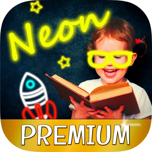Sticky neon draw with glow effects - Pro