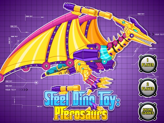 Steel Dino Toy:Mechanic Pterosaurs - 2 player game на iPad