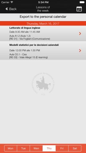Calendario Lezioni Unimore.Unimore Calendar Su App Store