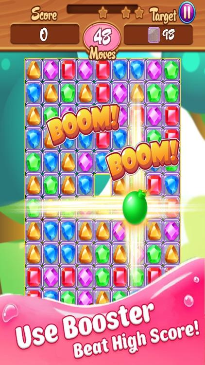 Jewel Blast Legend Delicious Gummy Match 3 Game screenshot-3