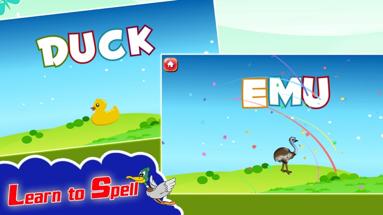 Kids Spelling Learning Birds - Phonics Words Free screenshot-3