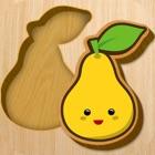 Baby wooden blocks icon