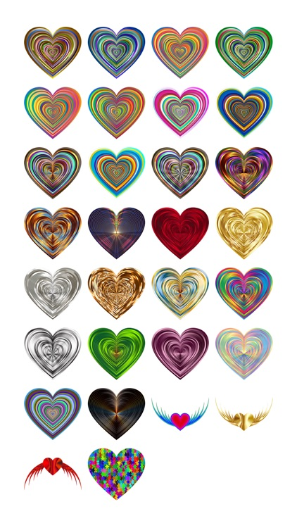 Colorful Hearts Sticker Pack