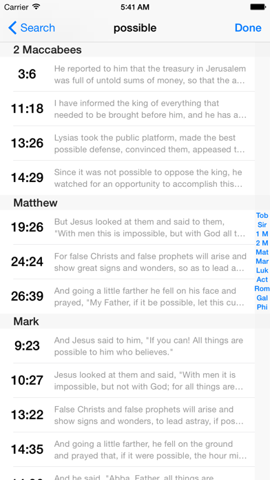 Versewise Bible Rsv Catholic Edition review screenshots