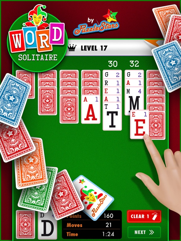 Screenshot #1 for Word Solitaire by PuzzleStars