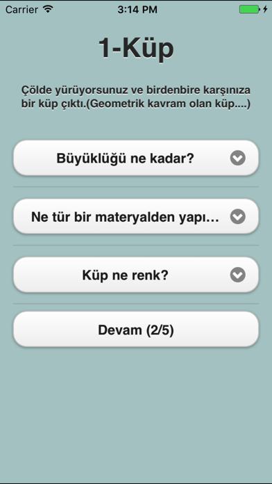 Kokoloji Küp Kişilik Testi screenshot two