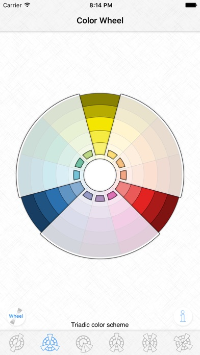 Screenshot for Color Wheel - Basic color schemes in United States App Store
