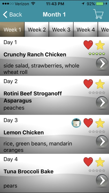 My Family Meal Planner Light screenshot-1
