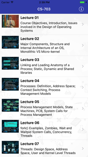 CS703 - Advanced Operating Systems on the App Store