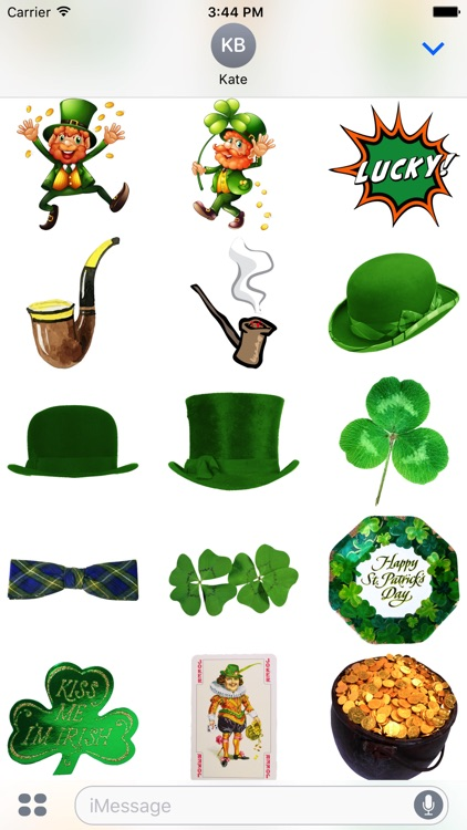 St. Patricks Stickers #1 for iMessage screenshot-3