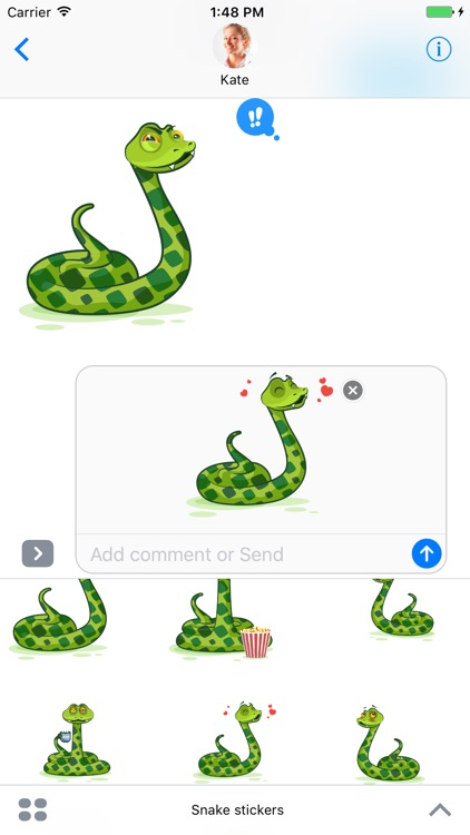 Snake - Stickers for iMessage screenshot-3
