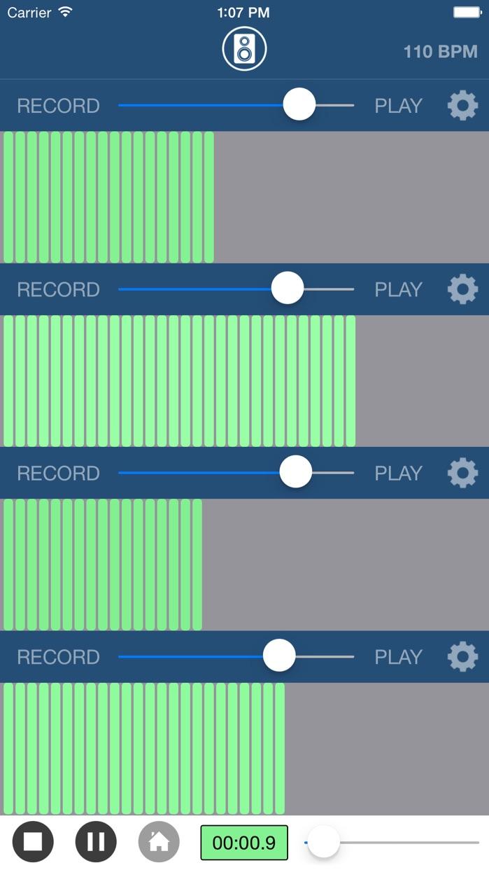 Multi Track Song Recorder Screenshot