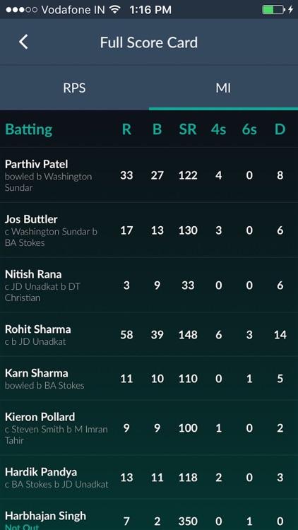 Fast cricket scores HW Cricket screenshot-3