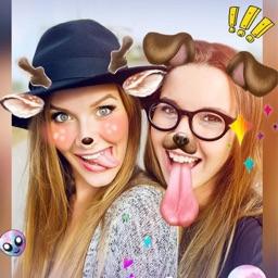 Snap Selfie Stickers Filters - Add Rainbow Emoji