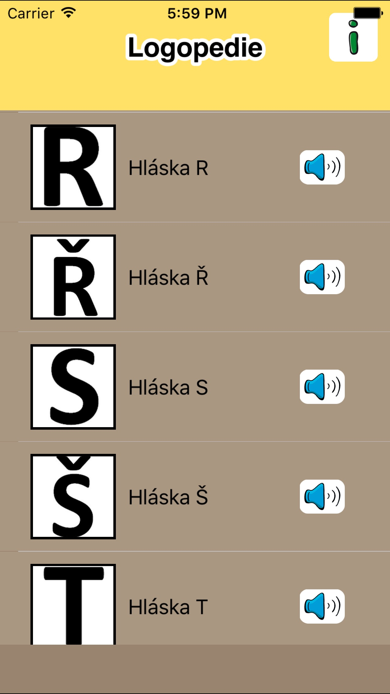 Logopedie, cvičení Screenshot