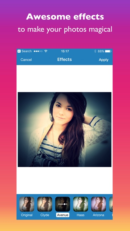 ePicEffects - photo editor for your social posts screenshot-3