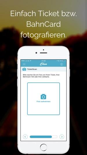 Choo - Zug & Bahnerstattung bei Verspätung. Screenshot