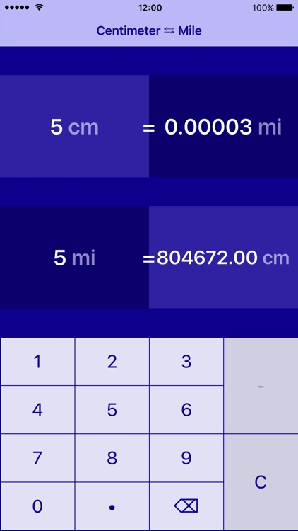 Centimeters to Miles   cm to mi