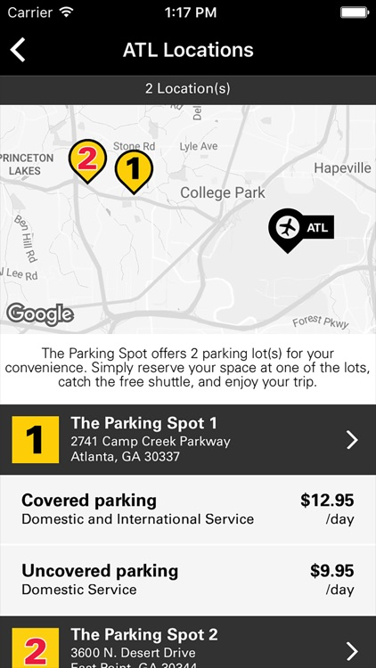 The Parking Spot –We Have Airport Parking Covered® screenshot-3