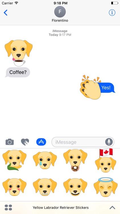 Yellow Labrador Retriever Stickers