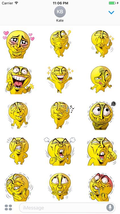 Mr.Powwaw Emoticon Stickers 6