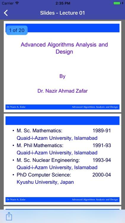 CS702 - Advanced Algorithms Analysis and Design screenshot-3