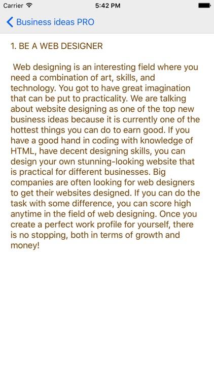 Business ideas PRO