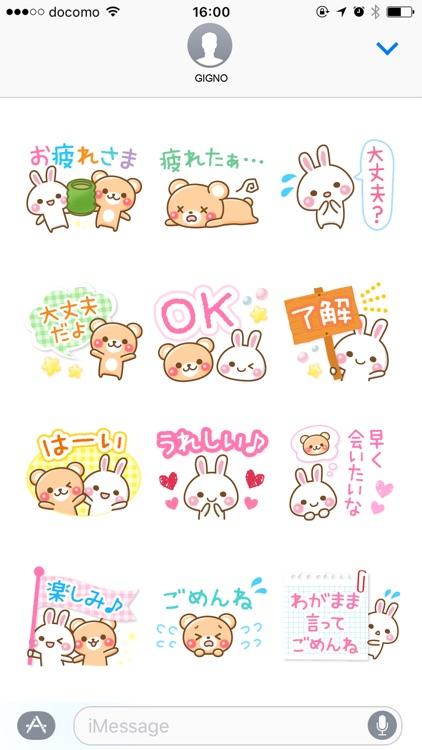 Bear rabbit sticker