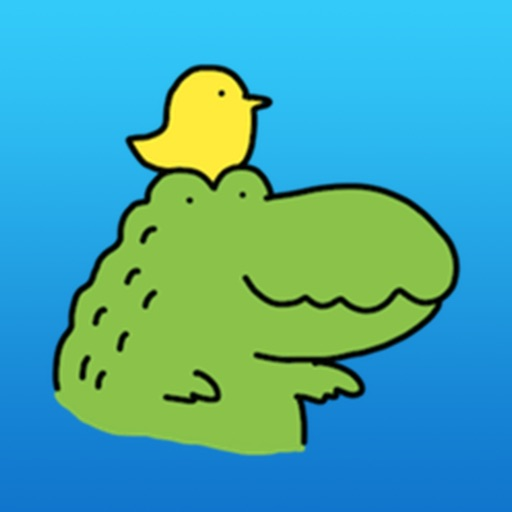 Baby Green Alligator Sticker