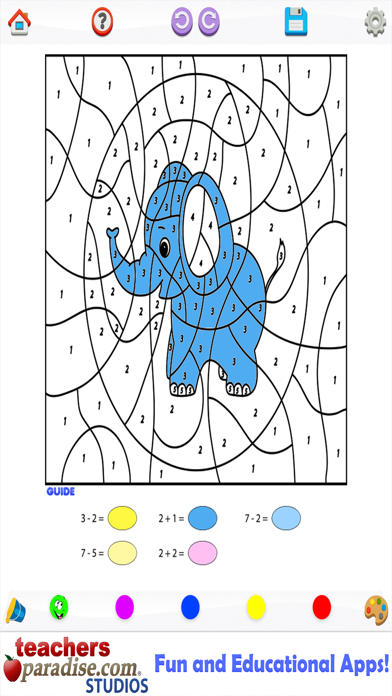 Kids Math Coloring Book - Paint by Numbers screenshot three