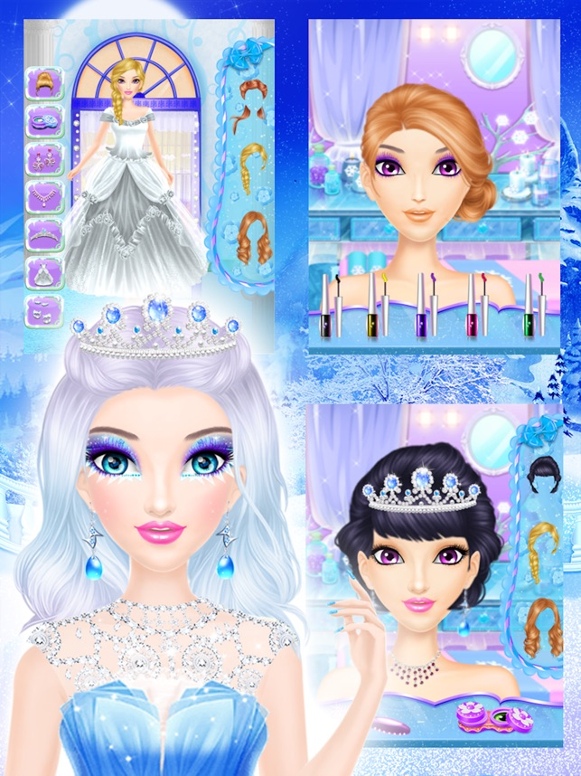 Ice Queen Makeover Frozen Salon Girls Games On The App Store